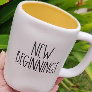 "NWT - RAE DUNN ""NEW BEGINNINGS"" MUG"